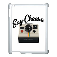 Say Cheese Apple Ipad 3/4 Case (white) by Valentinaart