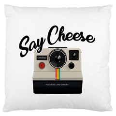 Say Cheese Large Flano Cushion Case (two Sides) by Valentinaart