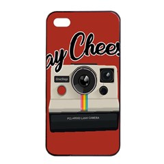 Say Cheese Apple Iphone 4/4s Seamless Case (black) by Valentinaart