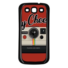 Say Cheese Samsung Galaxy S3 Back Case (black) by Valentinaart