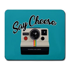 Say Cheese Large Mousepads by Valentinaart