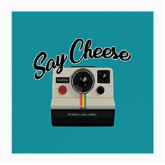 Say Cheese Medium Glasses Cloth by Valentinaart