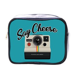 Say Cheese Mini Toiletries Bags by Valentinaart