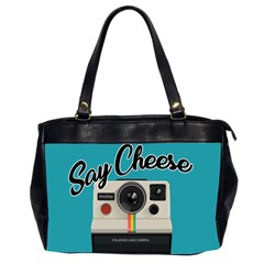 Say Cheese Office Handbags (2 Sides)  by Valentinaart