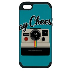 Say Cheese Apple Iphone 5 Hardshell Case (pc+silicone) by Valentinaart