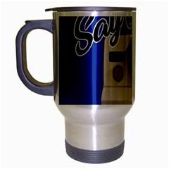 Say Cheese Travel Mug (silver Gray) by Valentinaart