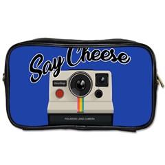 Say Cheese Toiletries Bags by Valentinaart