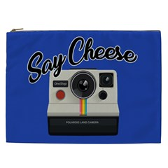 Say Cheese Cosmetic Bag (xxl)  by Valentinaart