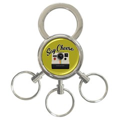 Say Cheese 3 Ring Key Chains by Valentinaart