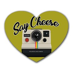 Say Cheese Heart Mousepads by Valentinaart