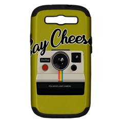 Say Cheese Samsung Galaxy S Iii Hardshell Case (pc+silicone) by Valentinaart