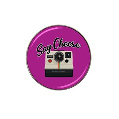 Say Cheese Hat Clip Ball Marker (4 Pack)