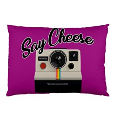 Say Cheese Pillow Case by Valentinaart