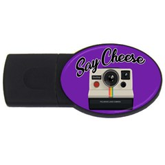 Say Cheese Usb Flash Drive Oval (4 Gb) by Valentinaart