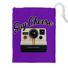 Say Cheese Drawstring Pouches (xxl)