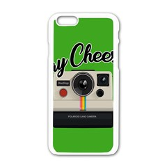 Say Cheese Apple Iphone 6/6s White Enamel Case by Valentinaart
