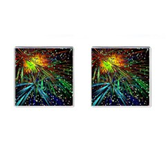Exploding Fireworks Cufflinks (square) by StuffOrSomething