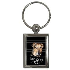 Bed Dog Key Chains (rectangle)  by Valentinaart