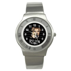 Bed Dog Stainless Steel Watch by Valentinaart