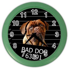 Bed Dog Color Wall Clocks by Valentinaart