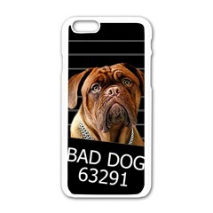 Bed Dog Apple Iphone 6/6s White Enamel Case by Valentinaart