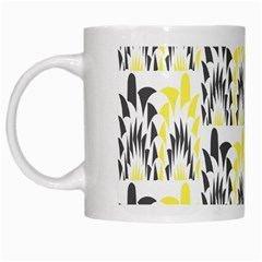 Tricolored Geometric Pattern White Mugs by linceazul