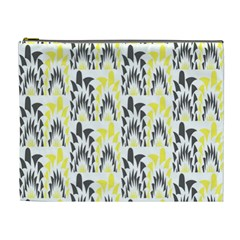 Tricolored Geometric Pattern Cosmetic Bag (xl) by linceazul