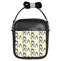 Tricolored Geometric Pattern Girls Sling Bags by linceazul