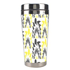 Tricolored Geometric Pattern Stainless Steel Travel Tumblers by linceazul