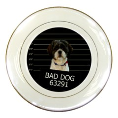 Bad Dog Porcelain Plates by Valentinaart