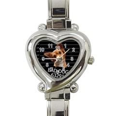 Bad Dog Heart Italian Charm Watch by Valentinaart