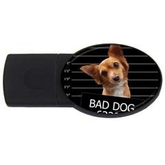 Bad Dog Usb Flash Drive Oval (4 Gb) by Valentinaart