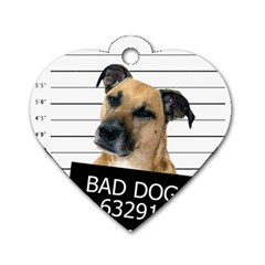 Bad Dog Dog Tag Heart (two Sides) by Valentinaart