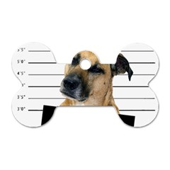 Bad Dog Dog Tag Bone (one Side) by Valentinaart