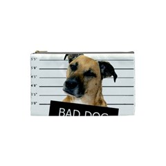 Bad Dog Cosmetic Bag (small)  by Valentinaart