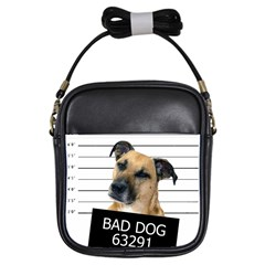 Bad Dog Girls Sling Bags by Valentinaart