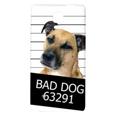 Bad Dog Galaxy Note 4 Back Case by Valentinaart