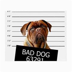 Bad Dog Small Glasses Cloth by Valentinaart