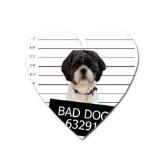 Bad Dog Heart Magnet by Valentinaart