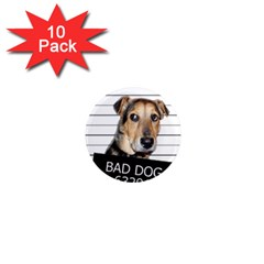 Bad Dog 1  Mini Magnet (10 Pack)  by Valentinaart