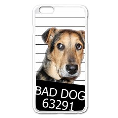 Bad Dog Apple Iphone 6 Plus/6s Plus Enamel White Case by Valentinaart