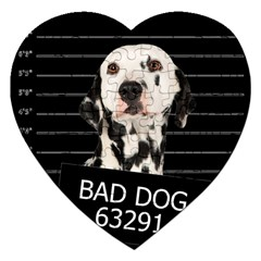 Bad Dog Jigsaw Puzzle (heart) by Valentinaart