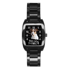 Bad Dog Stainless Steel Barrel Watch by Valentinaart