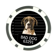 Bad Dog Poker Chip Card Guard by Valentinaart