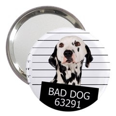 Bad Dog 3  Handbag Mirrors by Valentinaart