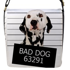 Bad Dog Flap Messenger Bag (s) by Valentinaart