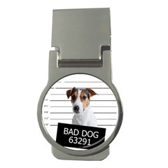 Bad Dog Money Clips (round)  by Valentinaart