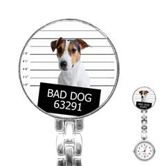 Bad Dog Stainless Steel Nurses Watch by Valentinaart