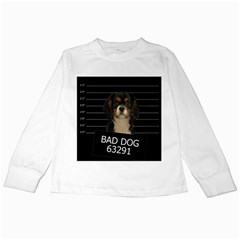 Bad Dog Kids Long Sleeve T Shirts by Valentinaart