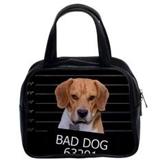Bad Dog Classic Handbags (2 Sides) by Valentinaart